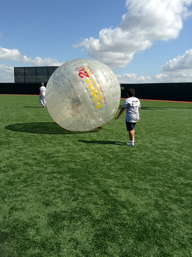 Ever wonder how it feels to run around in a human hamster ball?