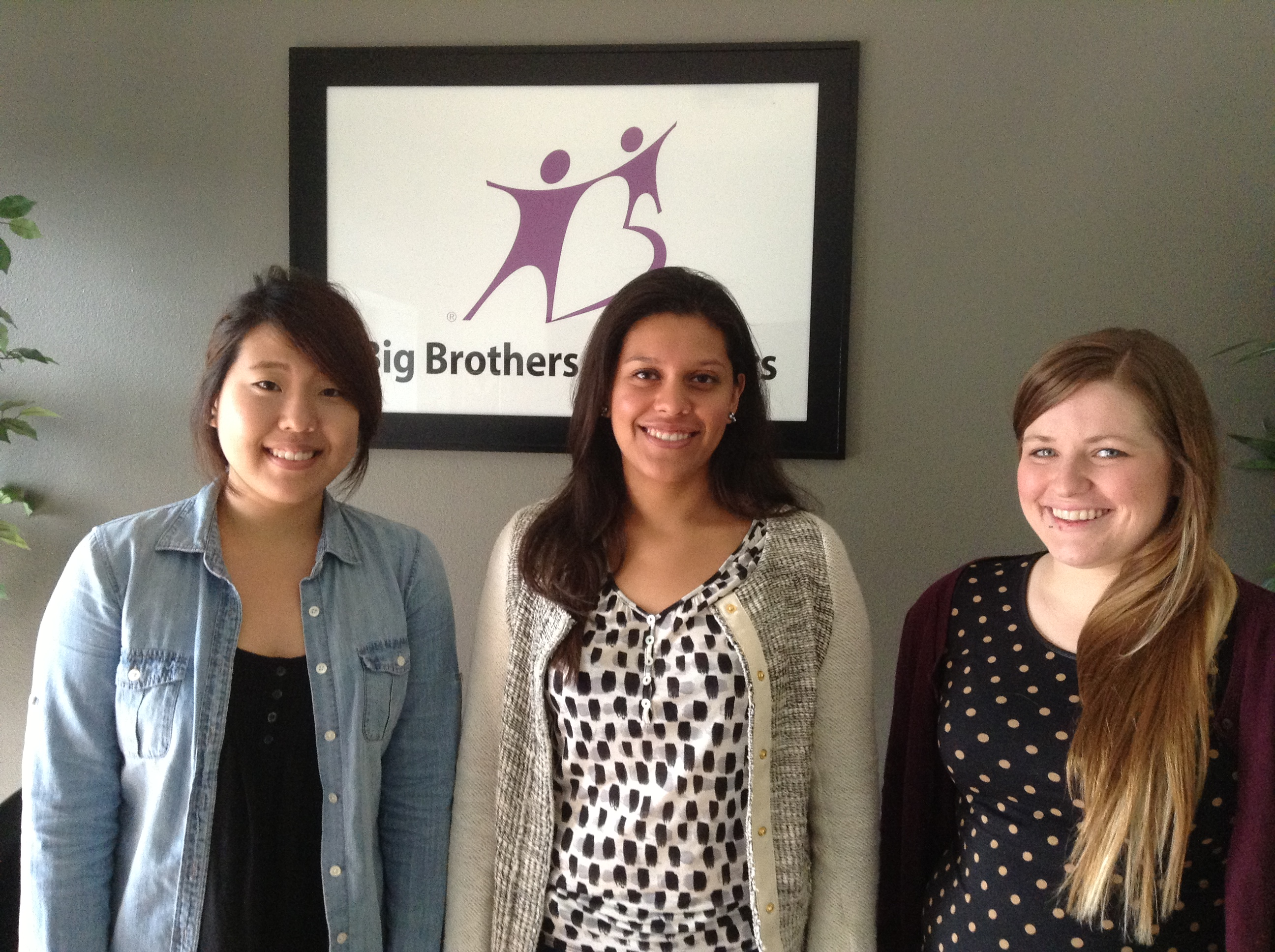 Our Interns: Christine, Grisell and Adrien.